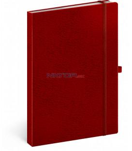 Notes Vivella Classic červený/červený linajkovaný 15 × 21 cm