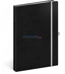 Notes Vivella Classic čierny/biely linajkovaný 15 × 21 cm