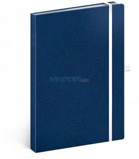 Notes Vivella Classic modrý/biely bodkovaný 15 × 21 cm