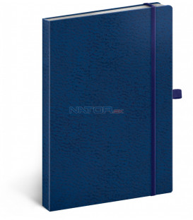 Notes Vivella Classic modrý/modrý bodkovaný 15 × 21 cm