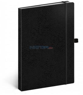 Notes Vivella Classic čierny/čierny bodkovaný 15 × 21 cm