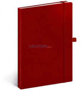 Notes Vivella Classic červený/červený bodkovaný 15 × 21 cm