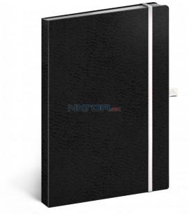 Notes Vivella Classic čierny/biely bodkovaný 15 × 21 cm