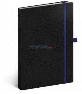 Notes Vivella Classic čierny/modrý bodkovaný 15 × 21 cm