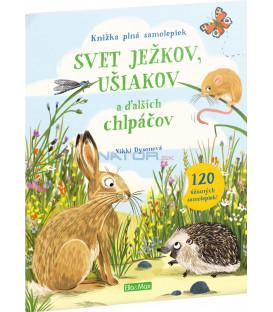 Svet ježkov, ušiakov a ďalších chlpáčov – Kniha samolepiek