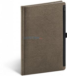 Notes Hardy hnedý linajkovaný 13 × 21 cm