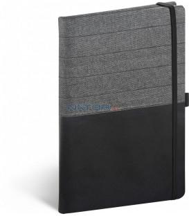 Notebook Skiver čiernosivý linajkovaný 13 × 21 cm