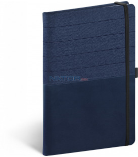 Notebook Skiver modromodrý linajkovaný 13 × 21 cm