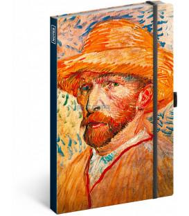 Notes Vincent van Gogh linajkovaný 13 × 21 cm