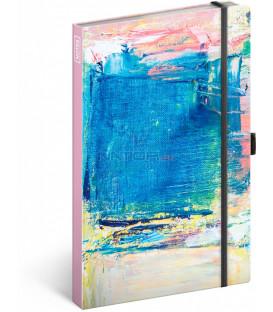 Notes Maľba linajkovaný 13 × 21 cm