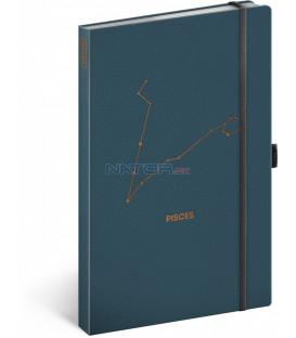 Notes Zverokruh Ryby linajkovaný 13 × 21 cm