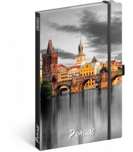 Notes Praha linajkovaný 13 × 21 cm