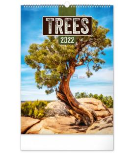 Nástenný kalendár Stromy 2022 33 × 46 cm