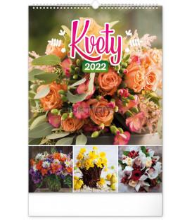 Nástenný kalendár Kvety 2022 33 × 46 cm