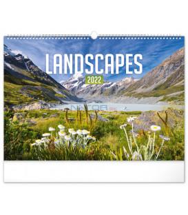 Nástenný kalendár Krajiny 2022 48 × 33 cm