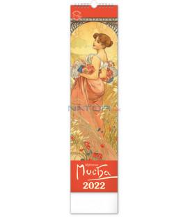 Nástenný kalendár Alfons Mucha CZ/SK 2022 12 × 48 cm