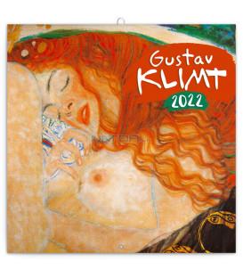Poznámkový kalendár Gustav Klimt 2022 30 × 30 cm