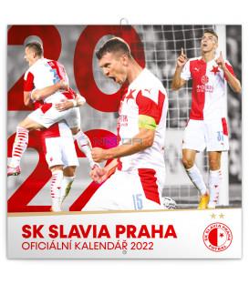 Poznámkový kalendár SK Slavia Praha CZ 2022 30 × 30 cm