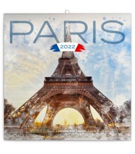 Poznámkový kalendár Paríž 2022 30 × 30 cm