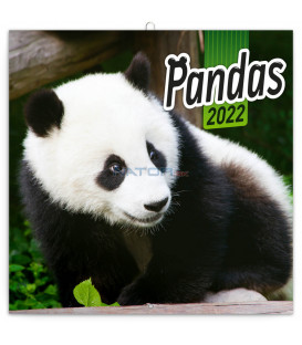 Poznámkový kalendár Pandy 2022 30 × 30 cm