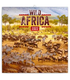 Poznámkový kalendár Divoká Afrika 2022 30 × 30 cm