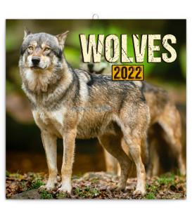 Poznámkový kalendár Vlky 2022 30 × 30 cm