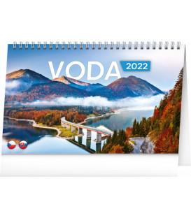 Stolový kalendár Voda CZ/SK 2022 231 × 145 cm