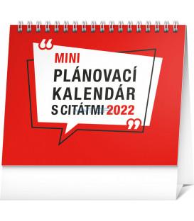 Stolový kalendár Plánovací s citátmi 2022 165 × 13 cm