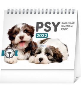 Stolový kalendár Psy – s menami psov 2022 165 × 13 cm
