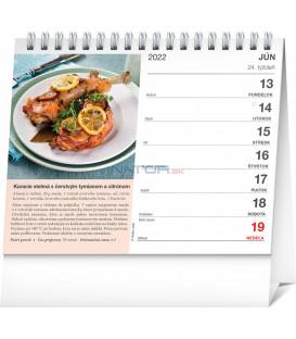 Stolový kalendár Slovenská kuchyňa 2022 165 × 13 cm