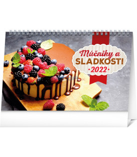 Stolový kalendár Múčniky a sladkosti 2022 231 × 145 cm