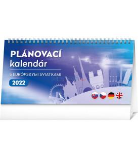 Stolový kalendár Plánovací s európskymi sviatkami 2022 25 × 125 cm