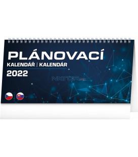 Stolový kalendár Plánovací CZ/SK 2022 25 × 125 cm