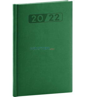 Týždenný diár Aprint 2022 zelený 15 × 21 cm