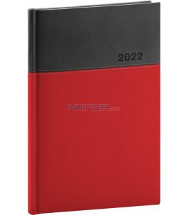 Týždenný diár Dado 2022 červeno–čierny 15 × 21 cm