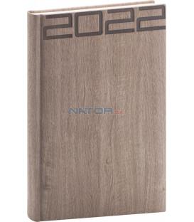 Denný diár Forest 2022 hnedý 15 × 21 cm