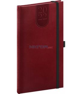 Vreckový diár Forest 2022 červený 9 × 155 cm