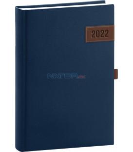 Denný diár Tarbes 2022 modrý 15 × 21 cm