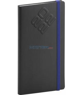 Vreckový diár Matra 2022 čierno–modrý 9 × 155 cm