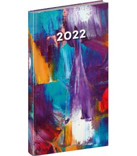 Vreckový diár Cambio Fun 2022 Maľba 9 × 155 cm