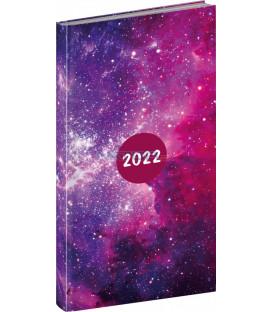 Vreckový diár Cambio Fun 2022 Galaxy 9 × 155 cm