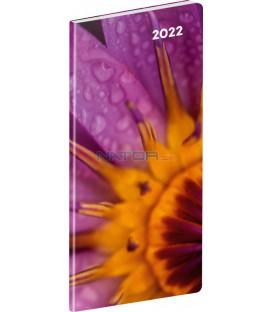 Vreckový diár Detail 2022 plánovací mesačný 8 × 18 cm