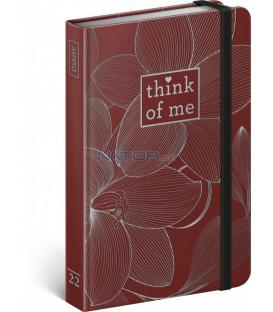 Týždenný diár Kvety – Think of me 2022 11 × 16 cm