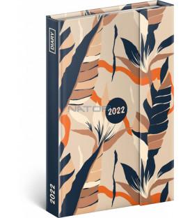 Týždenný magnetický diár Listy 2022 11 × 16 cm