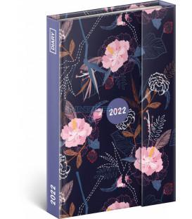 Týždenný magnetický diár Kvety 2022 11 × 16 cm