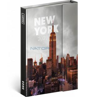 Týždenný magnetický diár New York 2022 11 × 16 cm