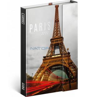 Týždenný magnetický diár Paríž 2022 11 × 16 cm