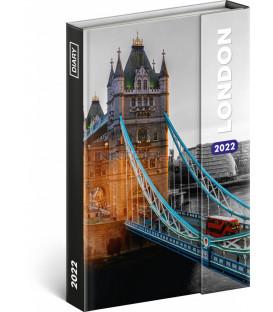 Týždenný magnetický diár Londýn 2022 11 × 16 cm