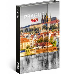 Týždenný magnetický diár Praha 2022 11 × 16 cm