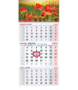 Nástenný kalendár TROJMESAČNÝ 2022 - Divé maky